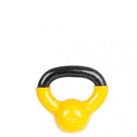Gantera vinil inSPORTline Kettlebell 2 kg