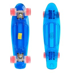 Penny board Maronad Retro Transparent cu roti iluminate