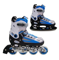 Patine WORKER Nolan 2 in 1- Albastru