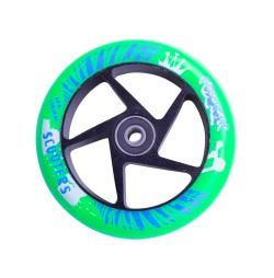 Roata trotineta FOX PRO Raw 110 mm- verde-negru
