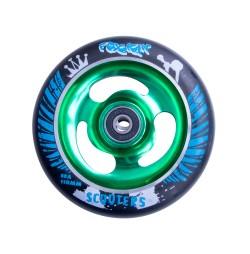 Roata trotineta FOX PRO Raw 110 mm- negru-verde