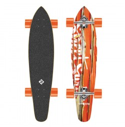 Longboard Street Surfing Kicktail-Damaged Orange 36''