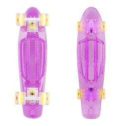 Penny board WORKER Transpy 300 22'' cu roti iluminate model 2016