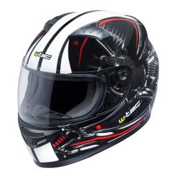 W-TEC Casca moto integrala FS-805-negru/rosu
