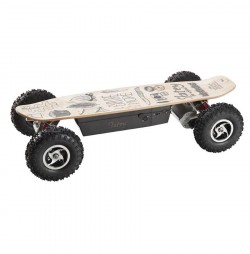 Longboard Electric Skatey 800 Off-Road Wood Art