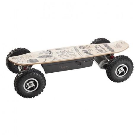 Longboard Electric Skatey 800 Off-Road Wood Art