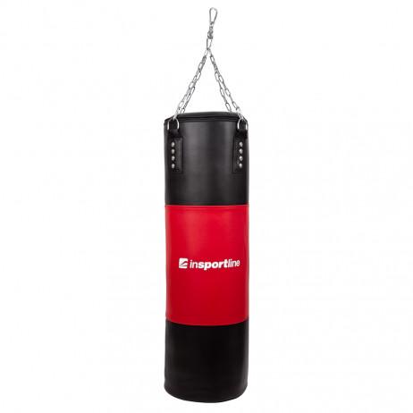 Sac de box inSPORTline 50-100kg-negru-rosu