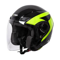 Casca Moto W-TEC Nankko Negru/Fluorescent