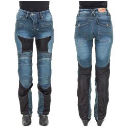 Pantaloni Moto Femei Jeans W-TEC Bolftyna