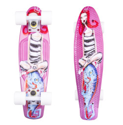 Penny Board ArtFish Girl 22""