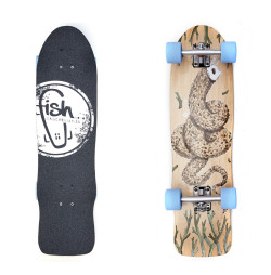 Mini Longboard Fish Old School Cruiser Seadragon 32""