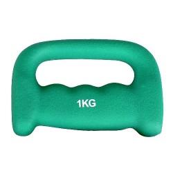 Gantera Neopren pentru jogging inSPORTline 1 kg