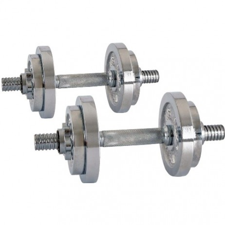 Set cromat gantere inSPORTline 2 x 10 kg