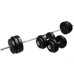 Set Gantere si Bara inSPORTline BS08 3-50 kg