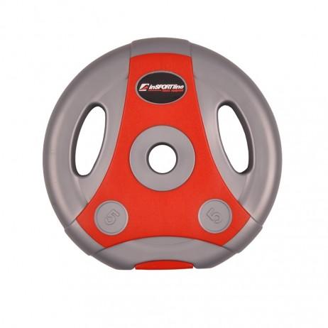 Greutate ciment ergo inSPORTline 10kg/30mm-gri cu rosu